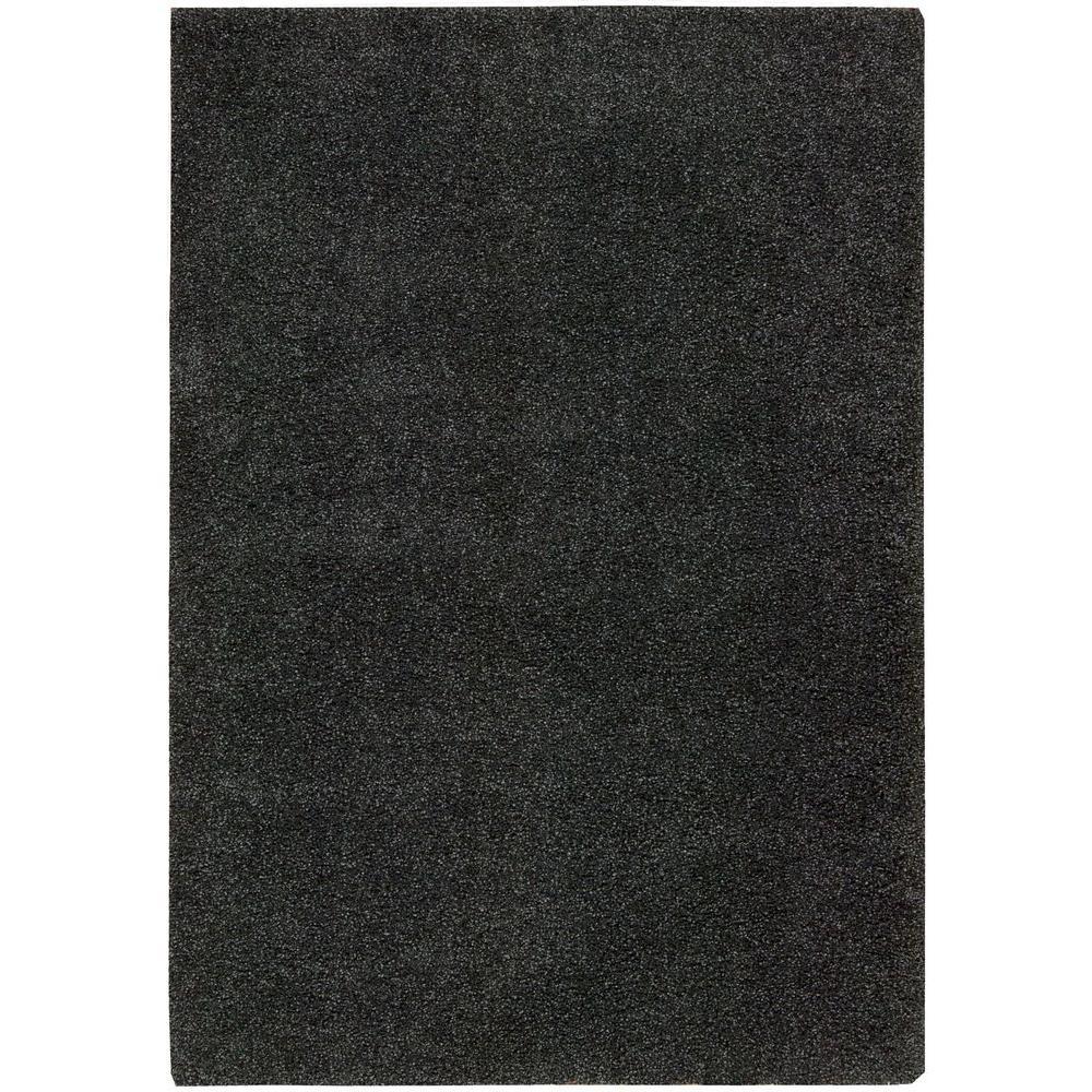 Nourison Amore Dark Grey 3 ft. 11 in. x 5 ft. 11 in. Area Rug