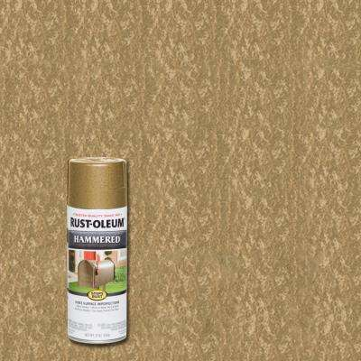 12 oz. Hammered Gold Rush Protective Spray Paint (6-Pack)