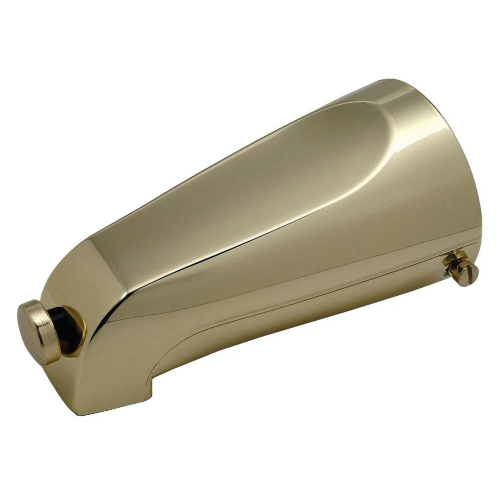 Mixet 5-1/8 in. Quikspout Diverter Tub Spout in Polished Brass