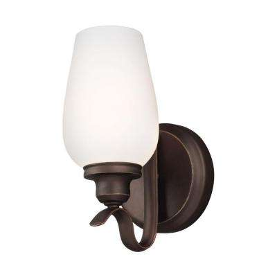 Standish 1-Light Oil Rubbed Bronze Wall Sconce with Highlights