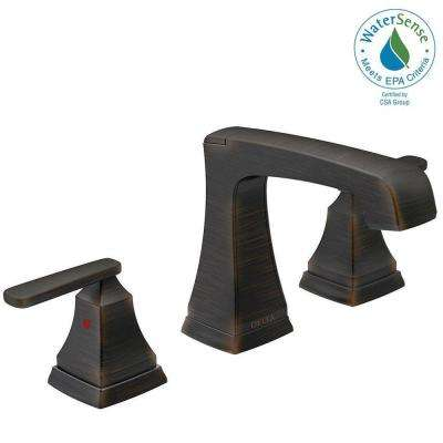 Ashlyn 8 in. Widespread 2-Handle Bathroom Faucet with Metal Drain Assembly in Venetian Bronze