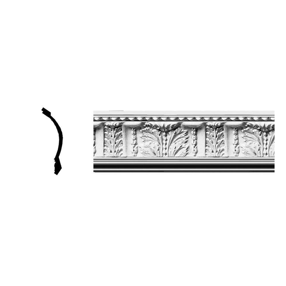 Ekena Millwork 5-1/8 in. x 4-3/4 in. x 96 in. Polyurethane Wakefield Crown Moulding