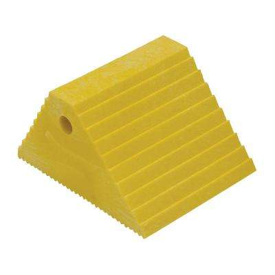 Recycled Yellow Plastic Dual Slope Wheel Chock