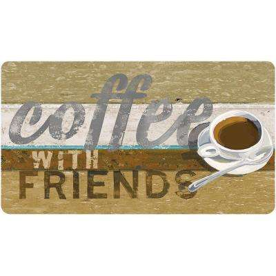 Coffee 20 in. x 36 in. Foam Mat
