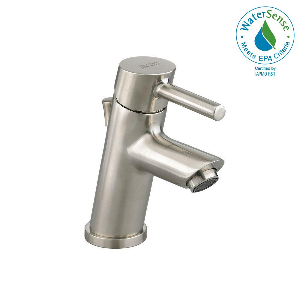American Standard Bathroom Faucets >> American Standard Serin Petite Monoblock Single Hole Single Handle Bathroom Faucet In Brushed Nickel