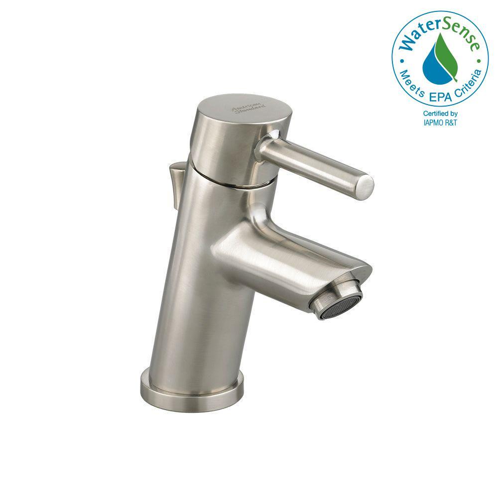 Serin Petite Monoblock Single Hole Single Handle Bathroom Faucet in Brushed Nickel