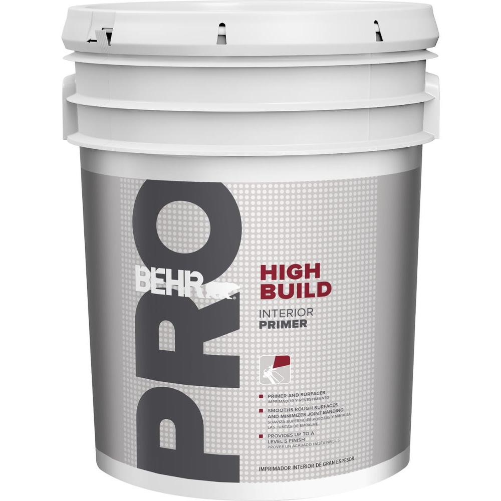 BEHR PRO 5 gal White Flat Interior High Build Sprayable Primer