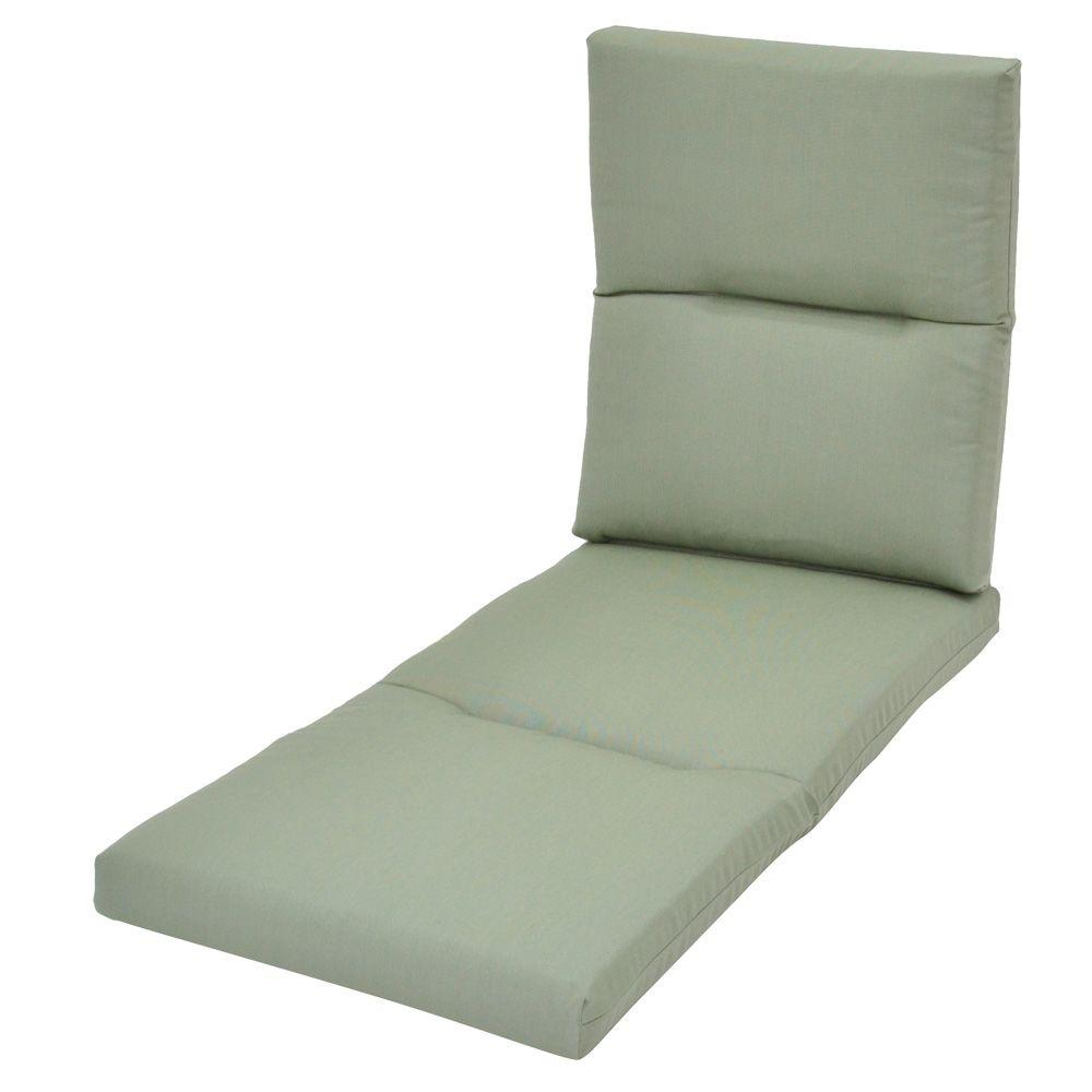 Hampton Bay Spa Blue Outdoor Chaise Lounge Cushion