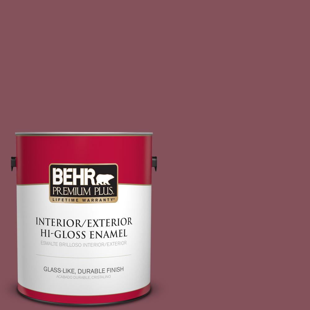 1 gal. #PPU1-15 So Merlot Hi-Gloss Enamel Interior/Exterior Paint