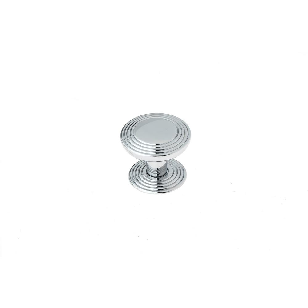 1-1/4 in. (32 mm) Transitional Chrome Round Cabinet Knob