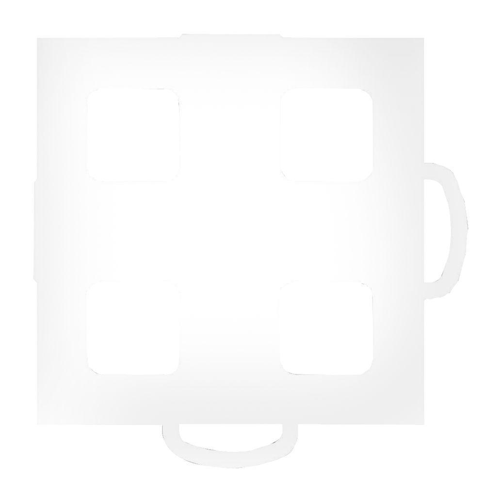 WeatherTech TechFloor 3 in. x 3 in. White/White Vinyl Flooring Tiles (4-Pack)