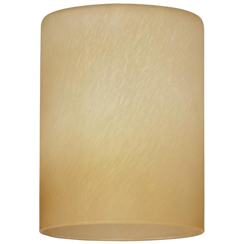 5-1/8 in. Hand-Blown Amber Harvest Cylinder Shade with 2-1/4 in. Fitter