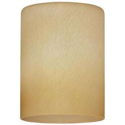5-1/8 in. Hand-Blown Amber Harvest Cylinder Shade with 2-1/4 in. Fitter and 3-15/16 in. Width