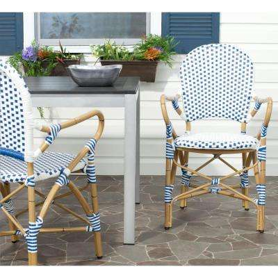Strange Blue White Aluminum Outdoor Dining Chairs Patio Chairs Download Free Architecture Designs Ogrambritishbridgeorg