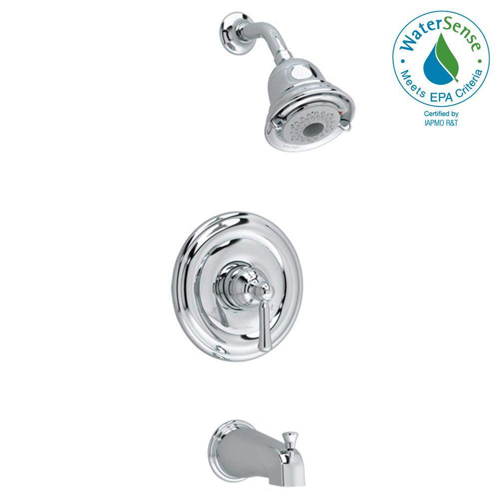American Standard Portsmouth Round Escutcheon 1-Handle Tub and Shower Faucet Trim Kit in Polished Chrome (Valve Sold Separately)