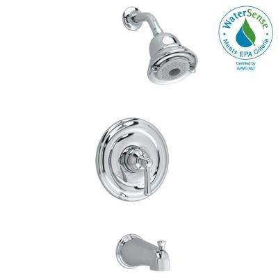 Portsmouth Round Escutcheon 1-Handle Tub and Shower Faucet Trim Kit in Polished Chrome (Valve Sold Separately)