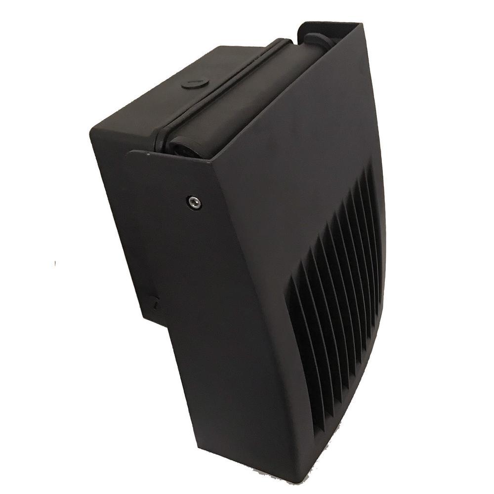 50-Watt Equivalent Bronze Outdoor Integrated LED Small Full Cutoff Adjustable Wall Pack Light Soft White 3000K