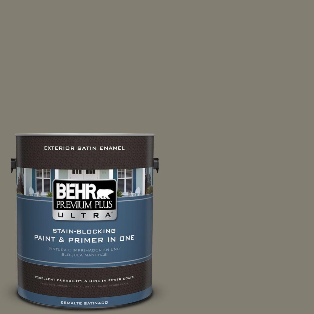 BEHR Premium Plus Ultra 1-gal. #PPU8-23 Manuscript Satin Enamel Exterior Paint