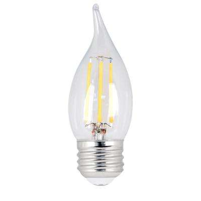 40W Equivalent Soft White CA10 Dimmable Clear Filament LED Medium Base Light Bulb (Case of 48)