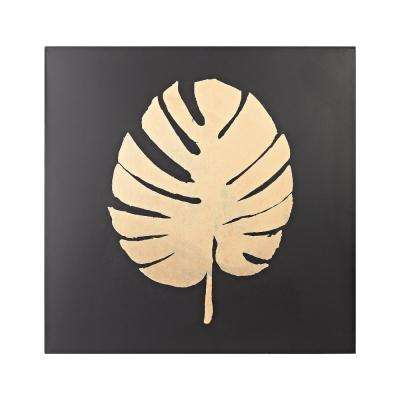 Palm Frond Metal in Gold and Black Wall Decor