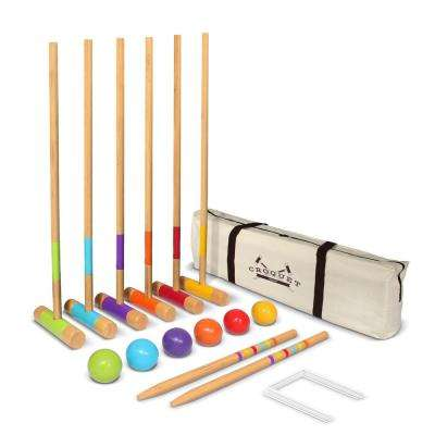 28 in. Mallets for Kids and Adults Standard Croquet Set