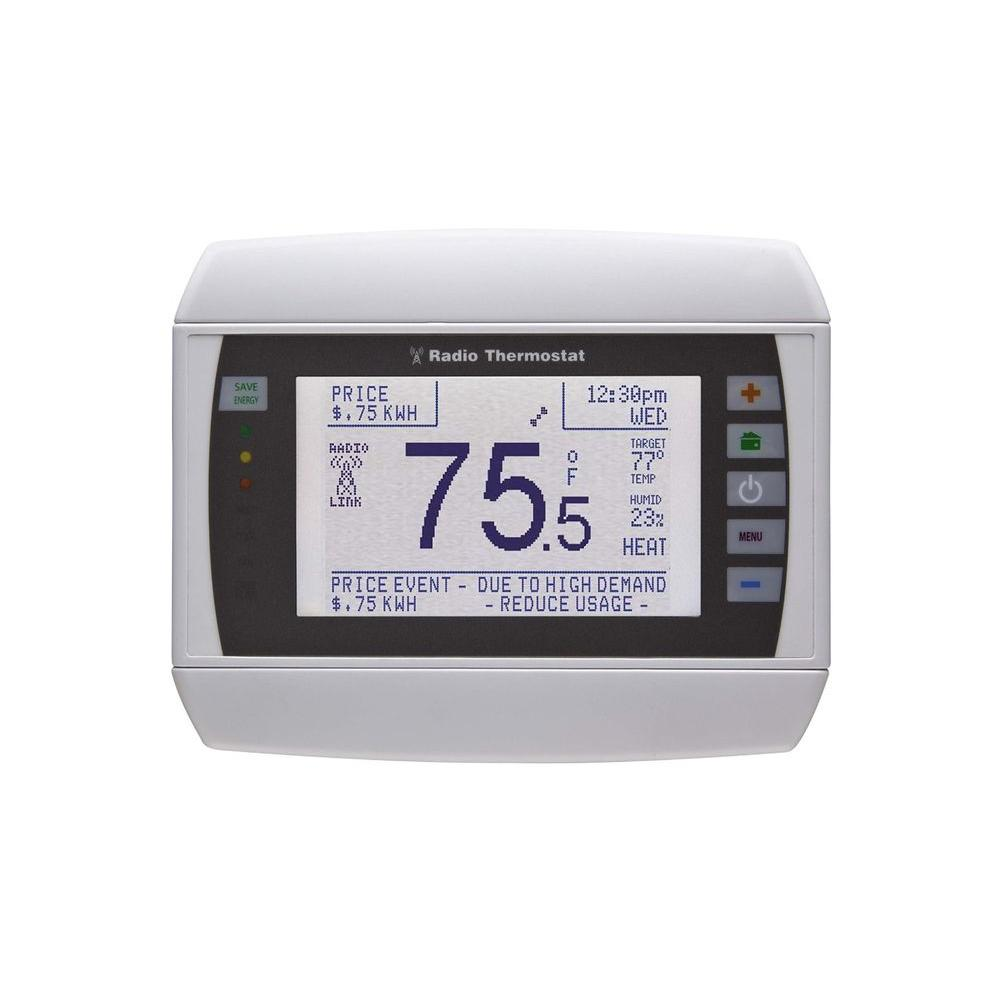 CT80 7-Day Programmable Thermostat (Z-Wave Enabled), Whites