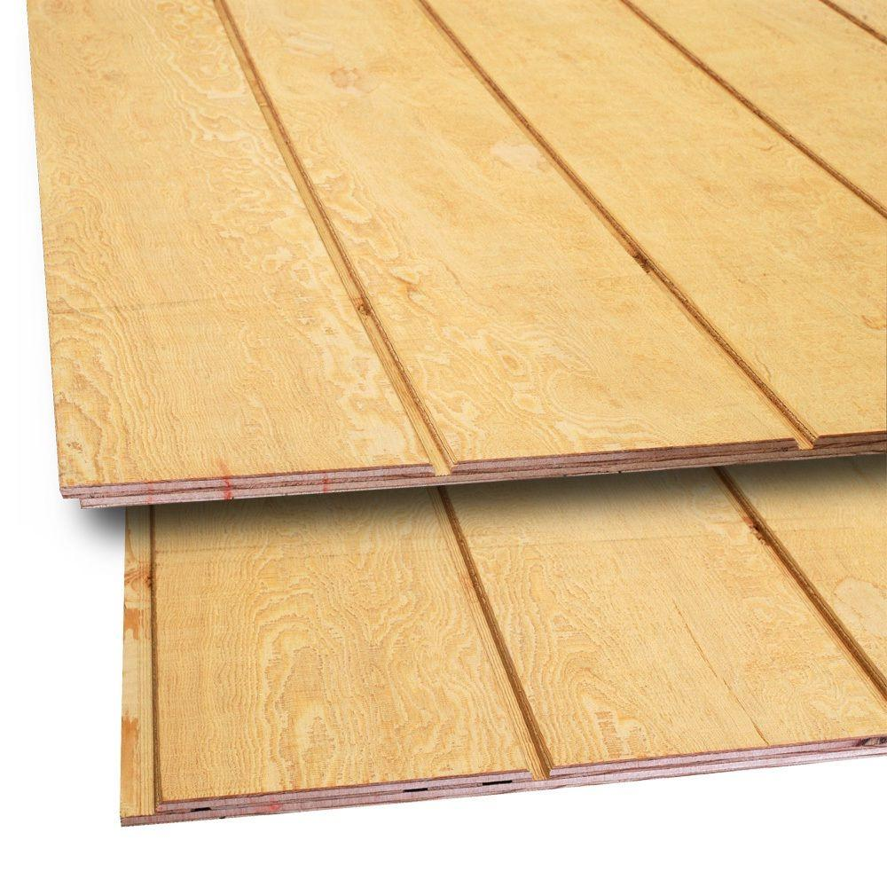15 32 In X 4 Ft X 8 Ft T1 11 8 In On Center Fir Plywood Siding 398135 The Home Depot