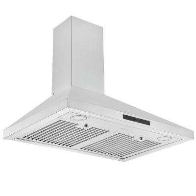 30 in. 600 CFM Convertible Wall-Mounted Pyramid Range Hood in Stainless Steel