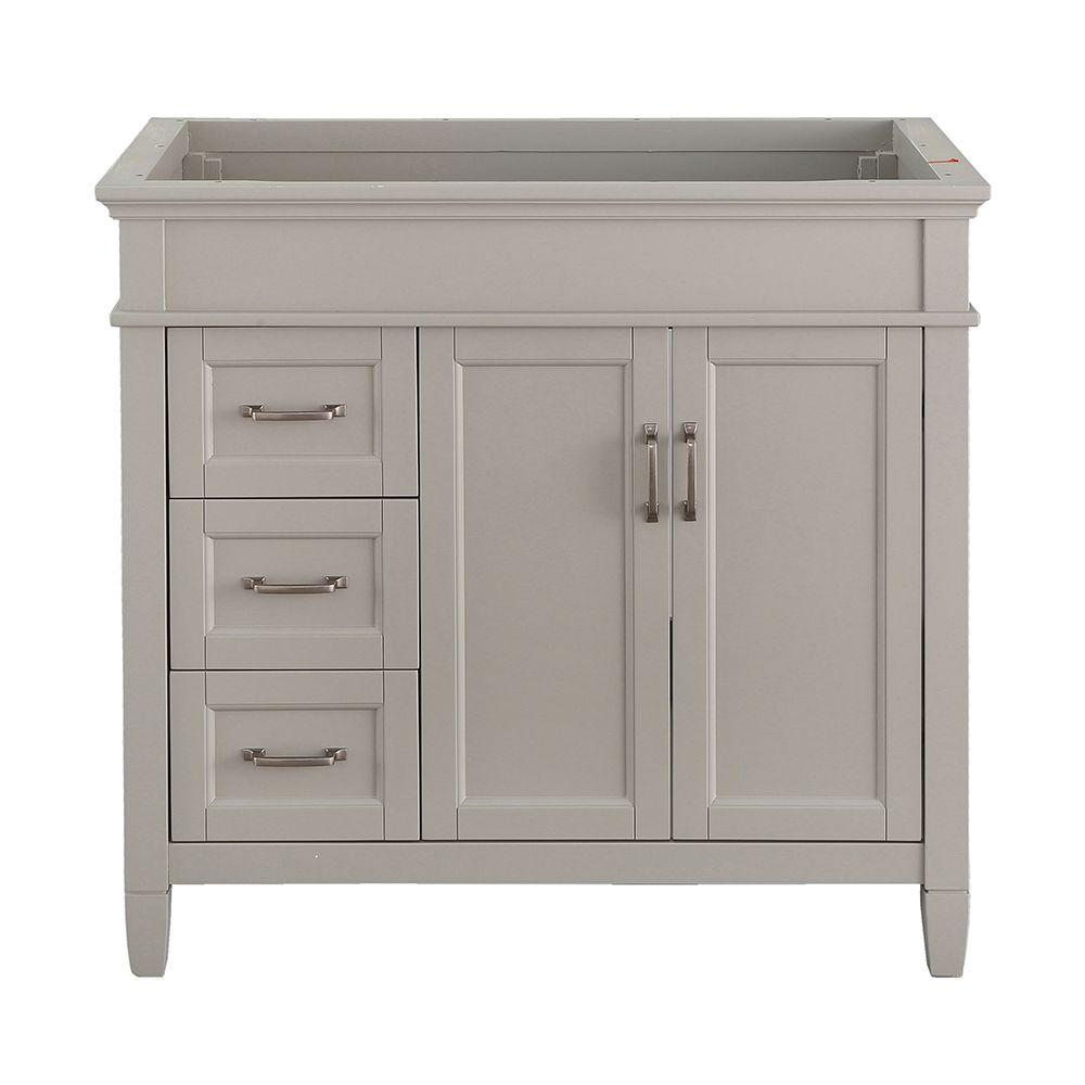 Home Decorators Collection Ashburn 36 in. W x 21.75 in. D Vanity Cabinet in Grey