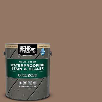 1 gal. #SC-147 Castle Gray Solid Color Waterproofing Exterior Wood Stain and Sealer