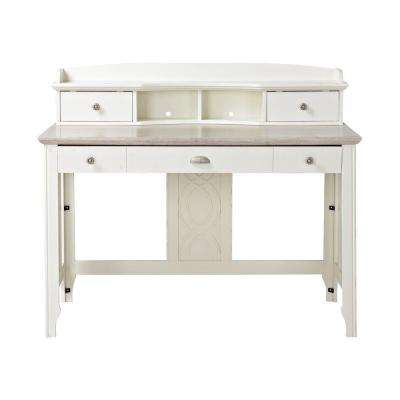 Charlotte White Desk with Hutch