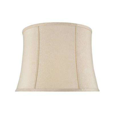 16 in. x 12 in. Creme Bell Lamp Shade