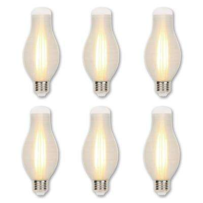 75-Watt Equivalent H19 Dimmable Glowescent Edison LED Light Bulb Soft White Light (6-Pack)
