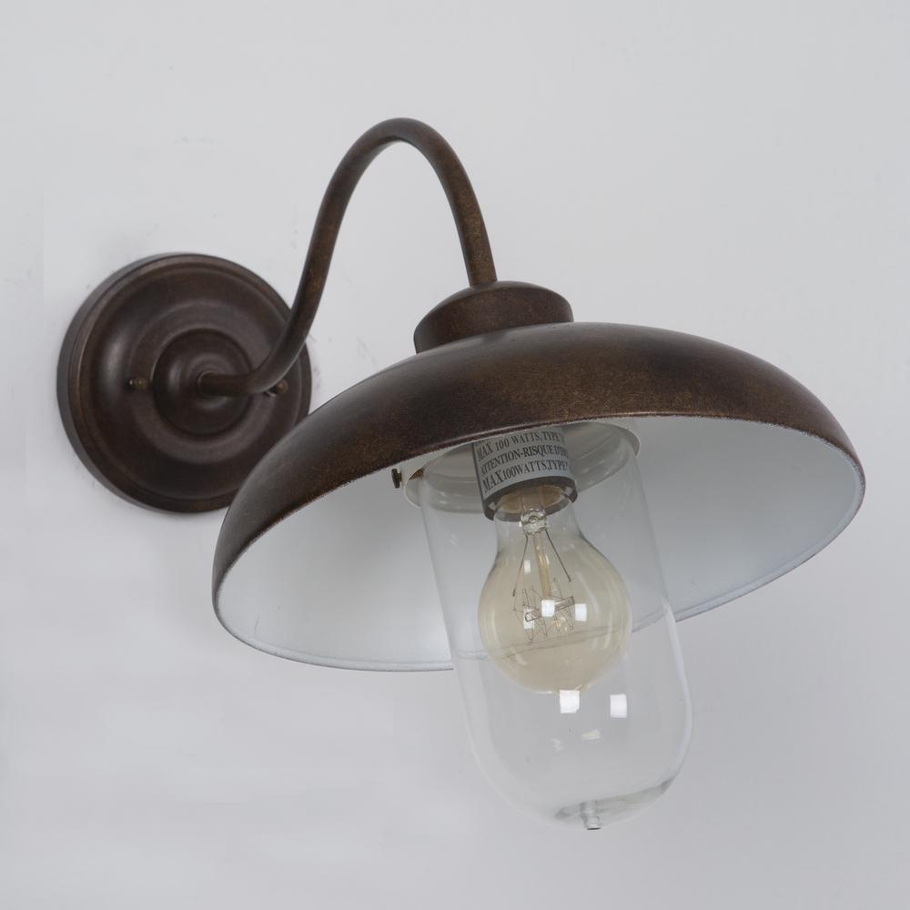 Dakota Collection 1-Light Hazel Nut Bronze Outdoor Wall-Mount Lamp