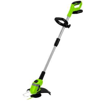 10 in. 20-Volt Lithium-Ion Cordless String Trimmer 2 Ah Battery and Charger Included