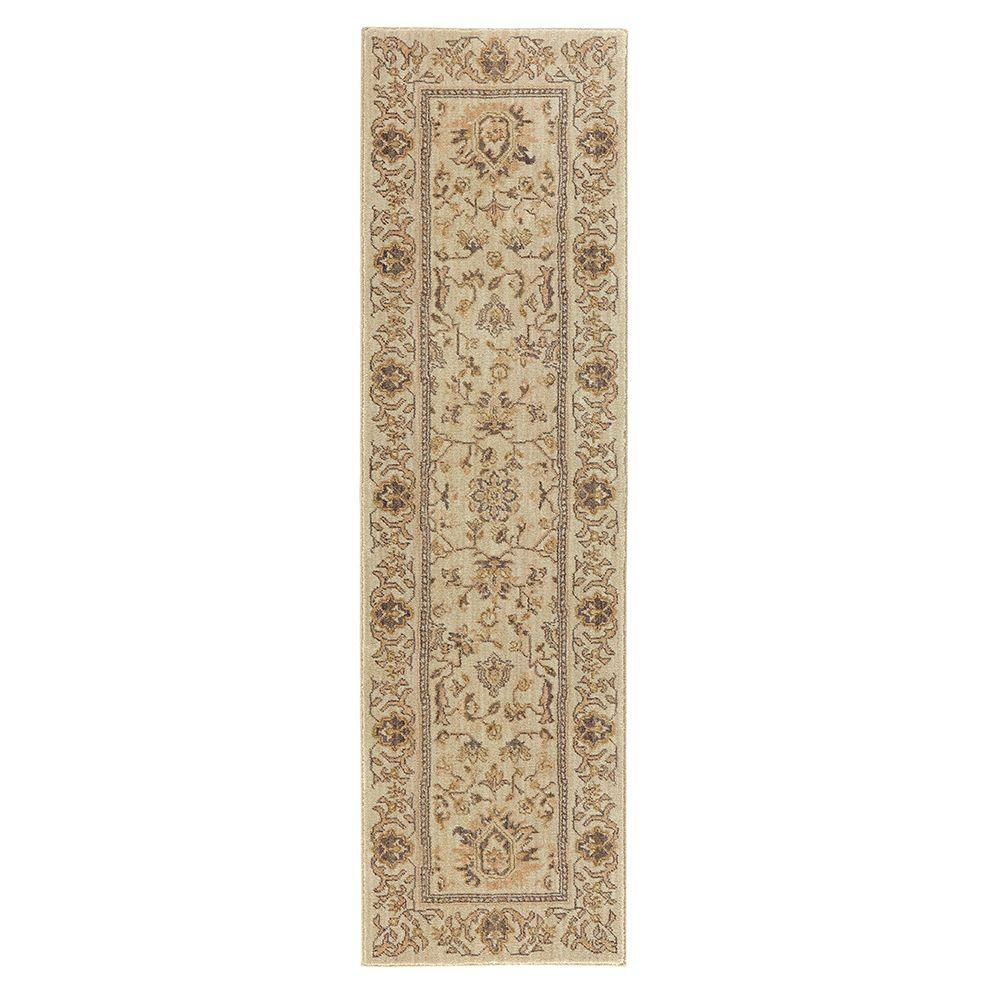 Home Decorators Collection Jackson Beige 2 Ft X 7 Ft Runner 509262 The Home Depot