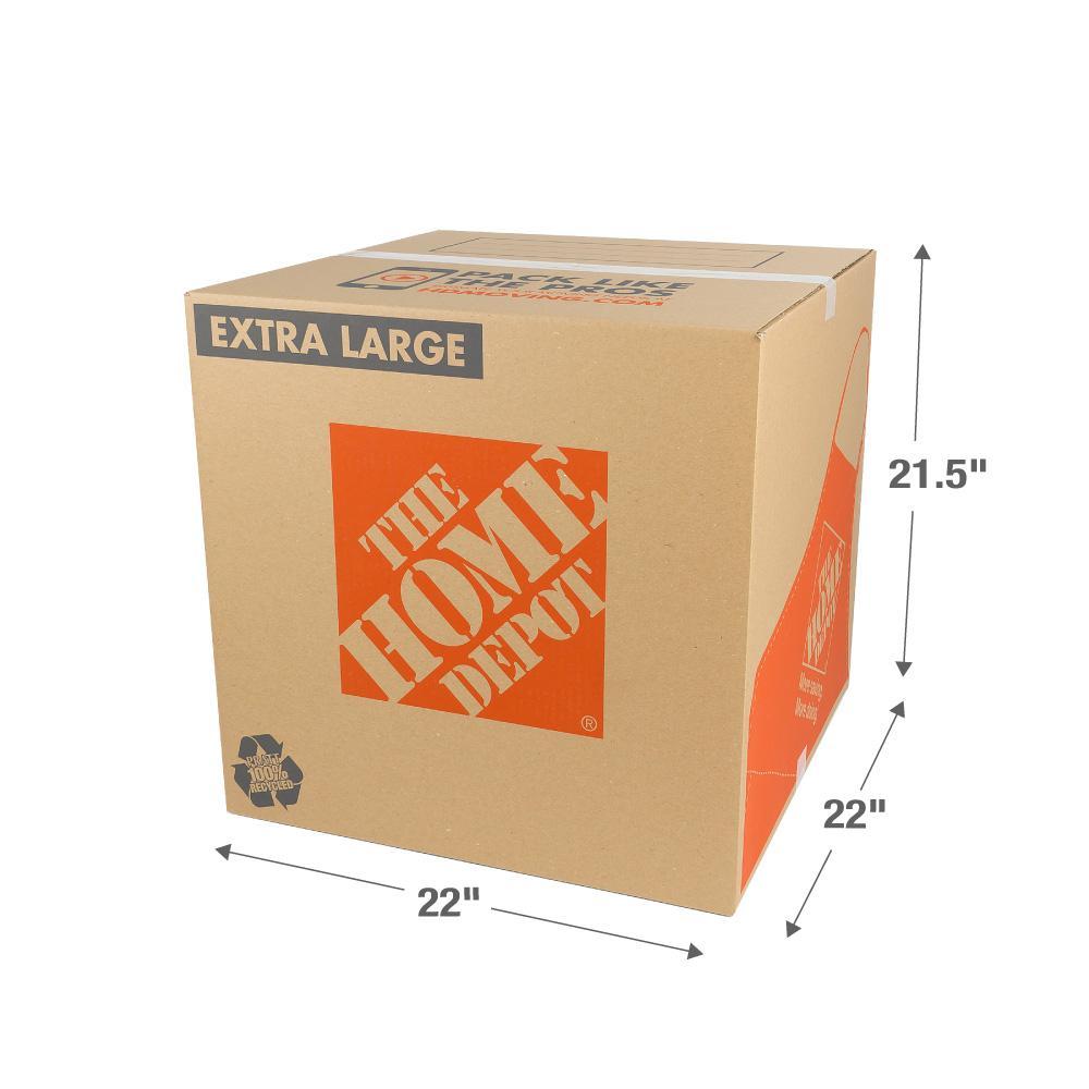The Home Depot 22 in. L x 22 in. W x 21 1/2 in. D Extra-Large Moving Box
