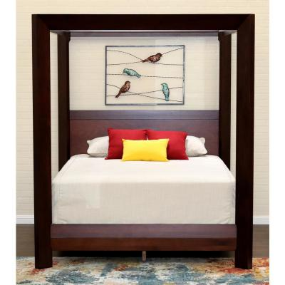 Island Mocca Queen Canopy Bed
