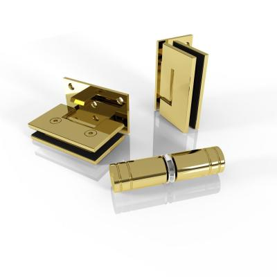 78 in. Bath Tub Door Only Hardware Pack in Polished Brass Bronze with Knob