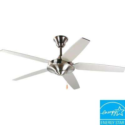 AirPro Signature 54 in. Indoor Brushed Nickel Ceiling Fan
