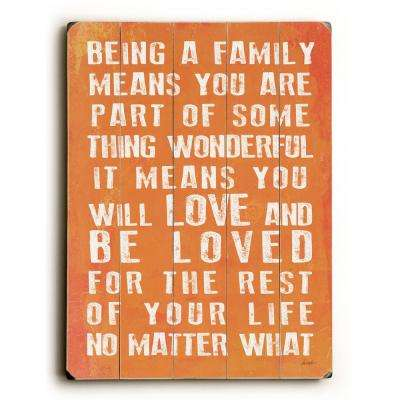 """12 in. x 16 in. """"Being A Family by Lisa Weedn """"Planked Wood"""" Wall Art"""