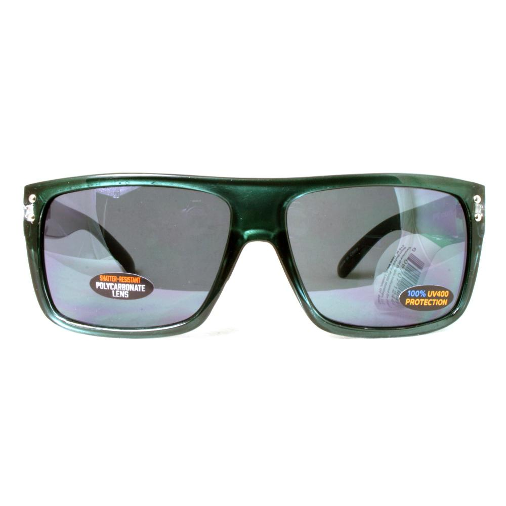 Men's Square Frame with Color Accents and Polycarbonate Lens