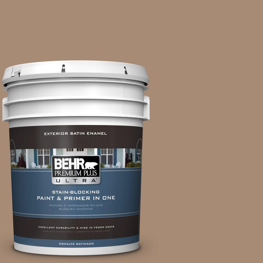 BEHR Premium Plus Ultra 5-gal. #N240-5 Rodeo Tan Satin Enamel Exterior Paint
