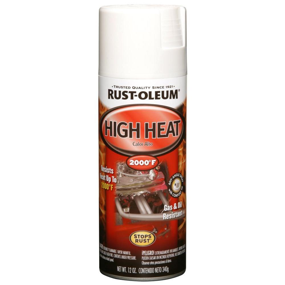 Rust-Oleum Automotive 12 oz. High Heat Enamel Flat White Spray (6-Pack)