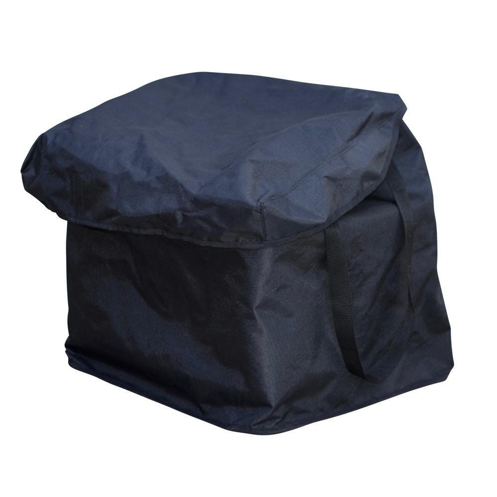 Heavy-Duty Medium Nylon Shopping Cart Liner in Black with Handles