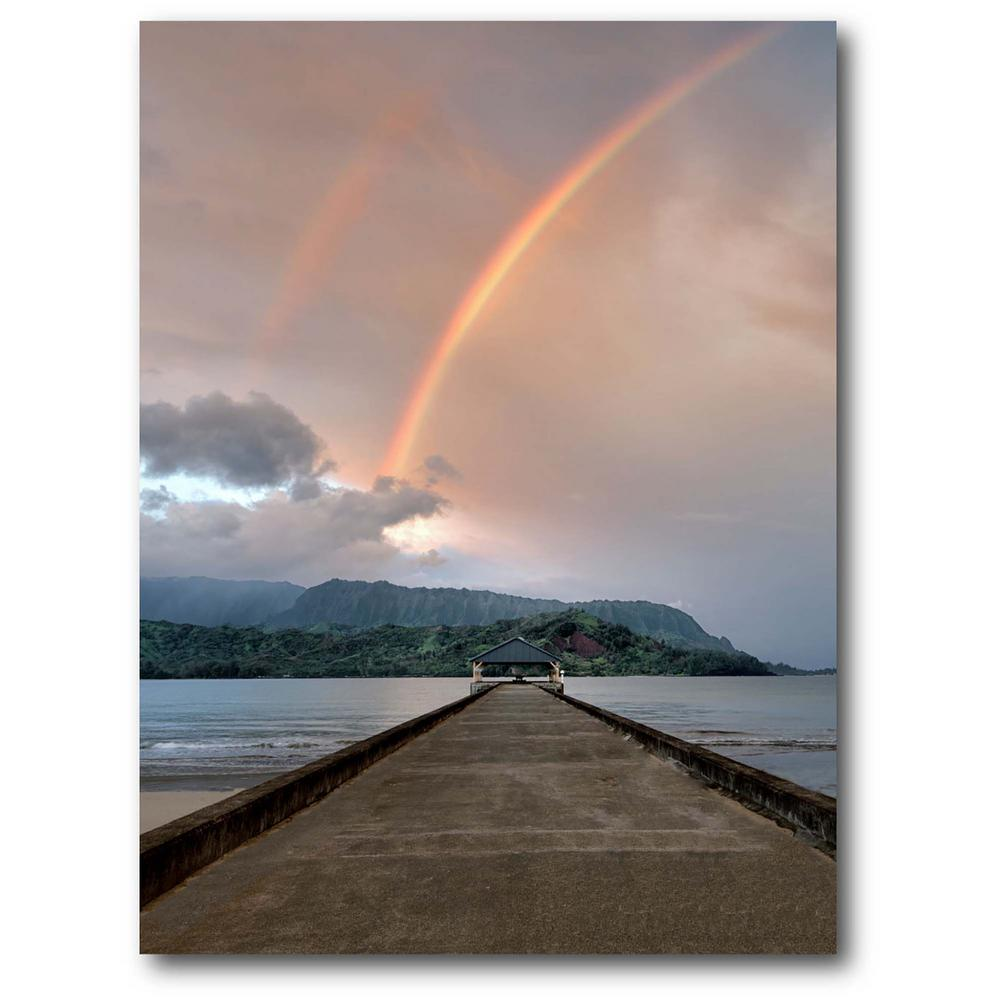 Courtside Market Rainbow 16 in. x 20 in. Gallery-Wrapped Canvas Wall Art, Multi Color was $70.0 now $38.93 (44.0% off)