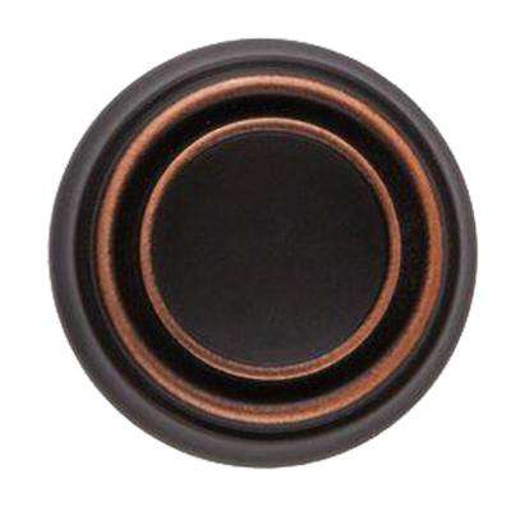 1-1/4 in. Oil Rubbed Bronze Round Cabinet Knob