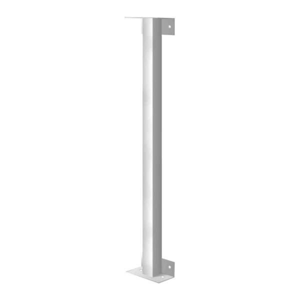 36 in. White Joining Post for Security Bars