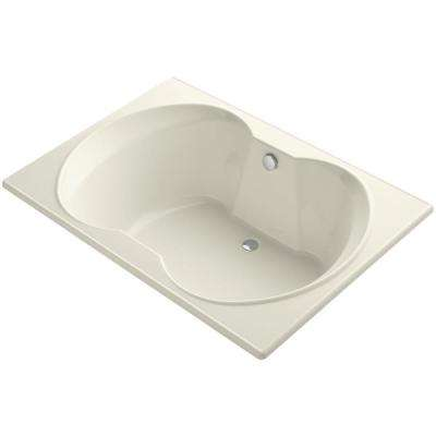 Overture 5 ft. Center Drain Soaking Tub in Biscuit