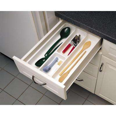2.375 in. H x 14.25 in. W x 21.25 in. D Medium White Utility Tray Drawer Insert
